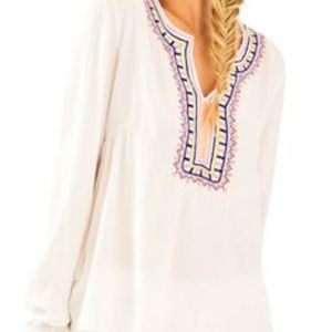 Lilly Pulitzer White Long Sleeve embroidered XS